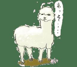 Fluffy Alpaca Family sticker #2062875