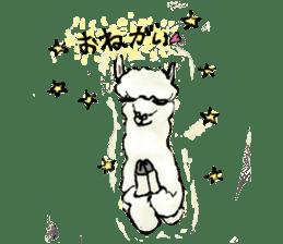 Fluffy Alpaca Family sticker #2062876