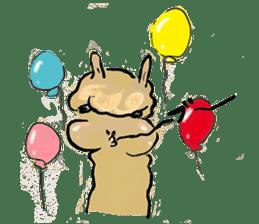 Fluffy Alpaca Family sticker #2062884