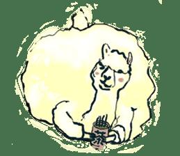 Fluffy Alpaca Family sticker #2062885