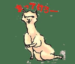 Fluffy Alpaca Family sticker #2062891