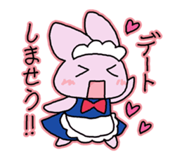 Rabbit maids conversation [Holiday] sticker #2063656