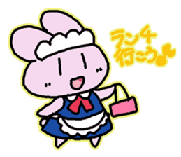 Rabbit maids conversation [Holiday] sticker #2063685