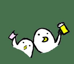 Daily life of demon-kawaii bird sticker #2065311