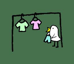 Daily life of demon-kawaii bird sticker #2065321