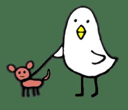 Daily life of demon-kawaii bird sticker #2065323