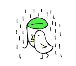 Daily life of demon-kawaii bird sticker #2065325