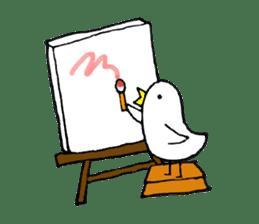 Daily life of demon-kawaii bird sticker #2065330