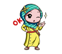 Najwa - Cute Hijaber sticker #2065994