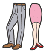 Mr.&Ms. Legs sticker #2066527
