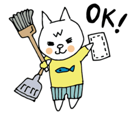Let's tidy up ! cataso cat sticker #2066567