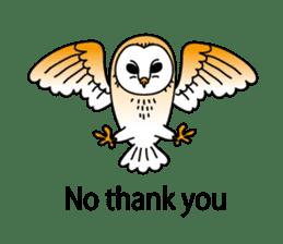 The Barn Owl of Sorrow English Version sticker #2066697