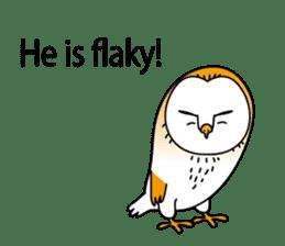 The Barn Owl of Sorrow English Version sticker #2066700