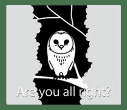The Barn Owl of Sorrow English Version sticker #2066702