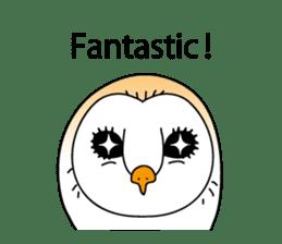 The Barn Owl of Sorrow English Version sticker #2066705