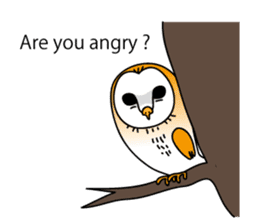 The Barn Owl of Sorrow English Version sticker #2066713