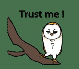The Barn Owl of Sorrow English Version sticker #2066716