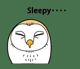 The Barn Owl of Sorrow English Version sticker #2066722