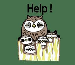 The Barn Owl of Sorrow English Version sticker #2066728