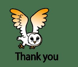 The Barn Owl of Sorrow English Version sticker #2066729