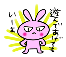 Rabbit bossy sticker #2068402