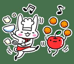 Cheerful patissier's rabbit & apple sticker #2069895