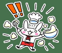 Cheerful patissier's rabbit & apple sticker #2069899