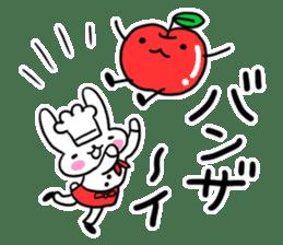 Cheerful patissier's rabbit & apple sticker #2069903