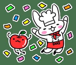 Cheerful patissier's rabbit & apple sticker #2069904