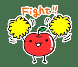 Cheerful patissier's rabbit & apple sticker #2069909