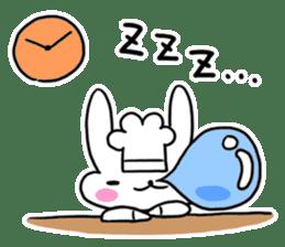 Cheerful patissier's rabbit & apple sticker #2069912