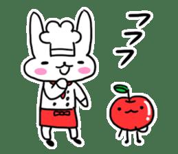 Cheerful patissier's rabbit & apple sticker #2069913