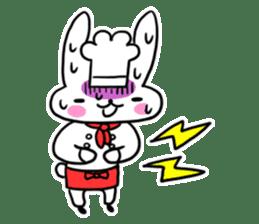 Cheerful patissier's rabbit & apple sticker #2069915