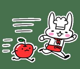 Cheerful patissier's rabbit & apple sticker #2069917