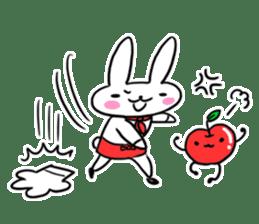 Cheerful patissier's rabbit & apple sticker #2069920