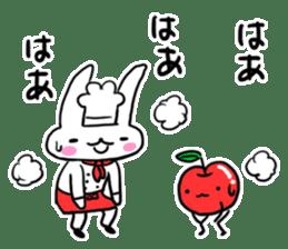 Cheerful patissier's rabbit & apple sticker #2069922