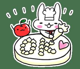 Cheerful patissier's rabbit & apple sticker #2069925