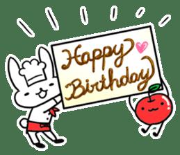 Cheerful patissier's rabbit & apple sticker #2069928