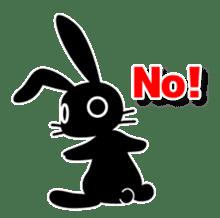 Cute Black Rabbit sticker #2074296