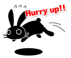 Cute Black Rabbit sticker #2074297