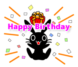 Cute Black Rabbit sticker #2074307