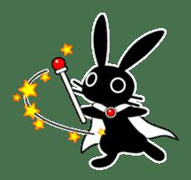 Cute Black Rabbit sticker #2074308