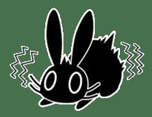 Cute Black Rabbit sticker #2074313