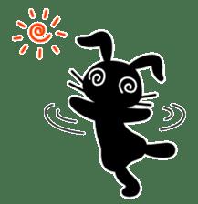 Cute Black Rabbit sticker #2074315