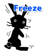 Cute Black Rabbit sticker #2074318