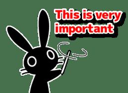Cute Black Rabbit sticker #2074320