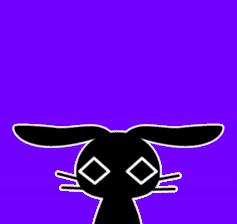Cute Black Rabbit sticker #2074321