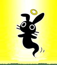 Cute Black Rabbit sticker #2074330