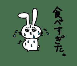 Yuruki-ra rabbit sticker #2074542