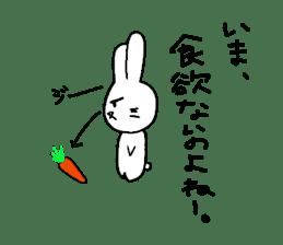 Yuruki-ra rabbit sticker #2074543